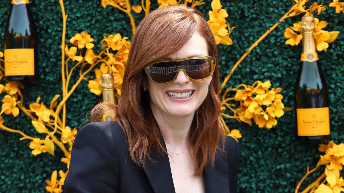Julianne Moore attends the 12th annual Veuve Clicquot Polo Classic at Liberty State Park in New Jersey on June 1, 2019. (AP)