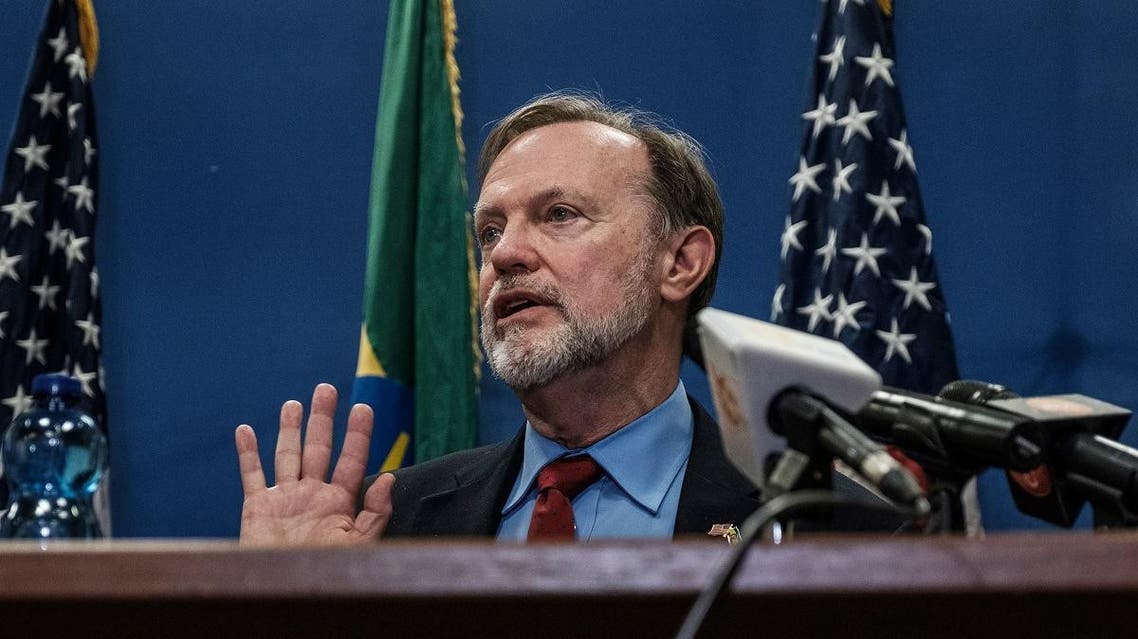 Assistant Secretary of State for African Affairs Tibor Nagy speaks during a press conference at the US Embassy in Addis Ababa, on November 30, 2018. (AFP)