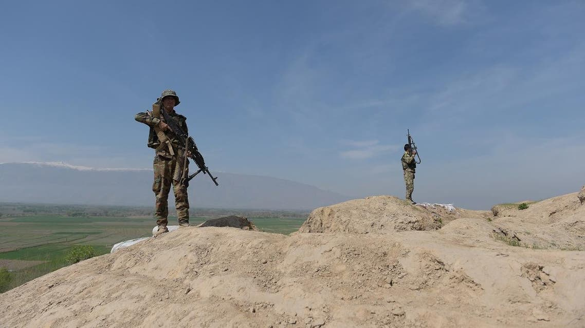 File photo of Afghani soldiers keeping watch in an area in Baghlan province. (File photo: AFP)