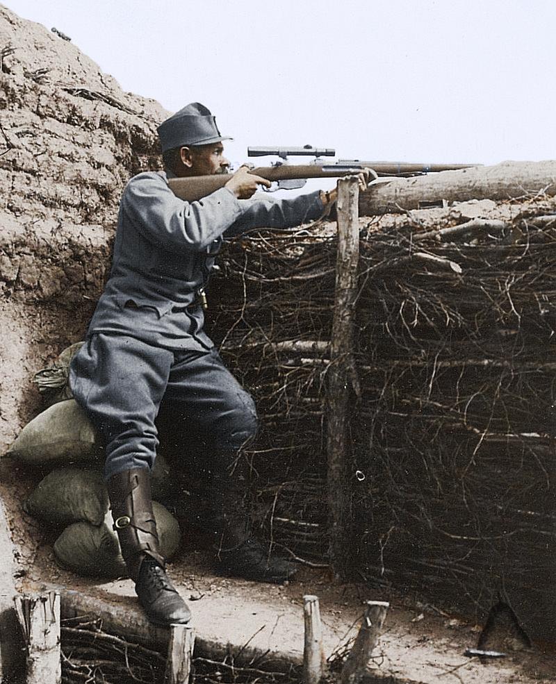 صورة لقناص نمساوي بالحرب العالمية الأولى