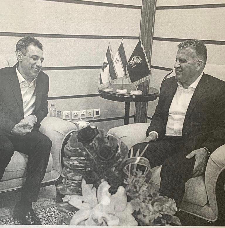 عباس ابراهيم مدیر اداره امنیت عمومی لبنان و نزار زکا