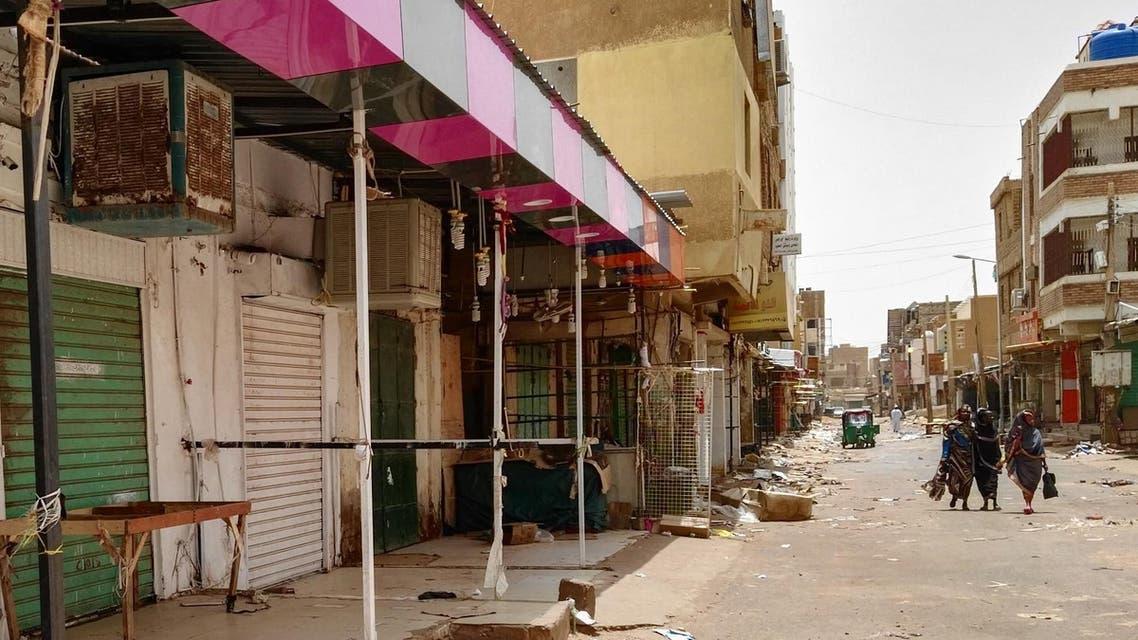 Closed shops in Sudan AFP