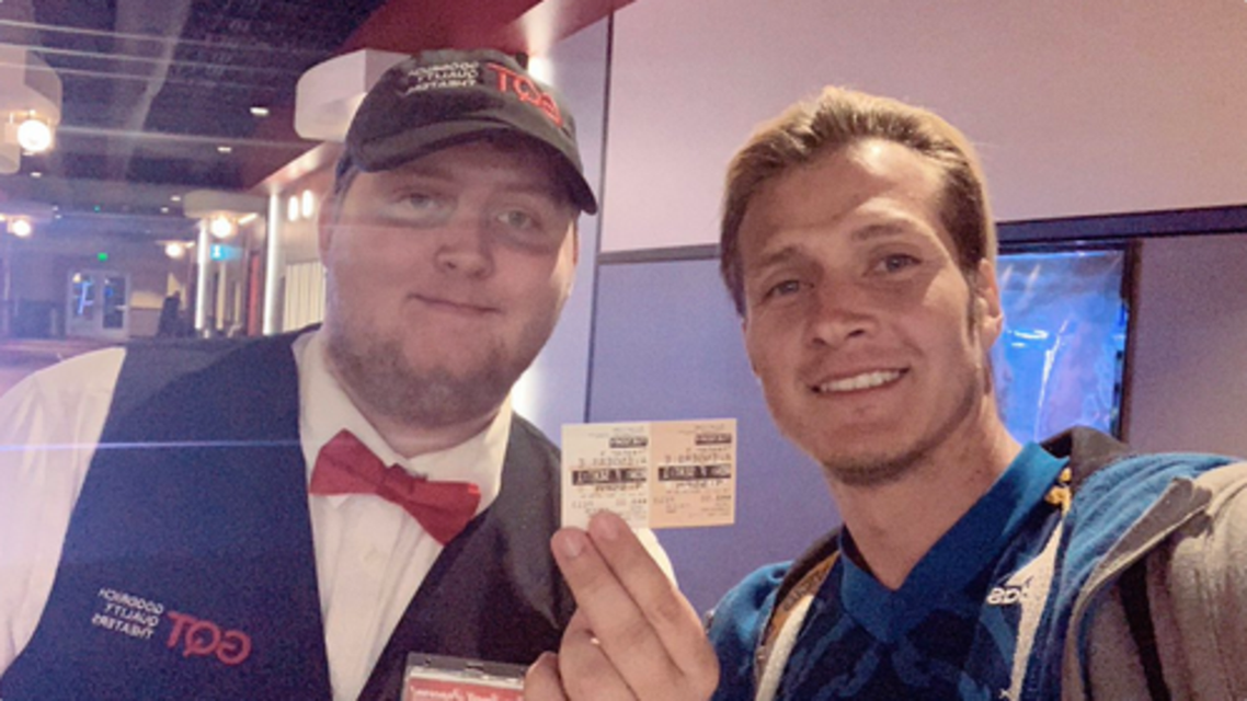 """A Marvel fan in the United States is doing his part to help """"Avengers: Endgame"""" become the highest grossing movie in history -- he's seen the superhero blockbuster a whopping 112 times. (Twitter)"""
