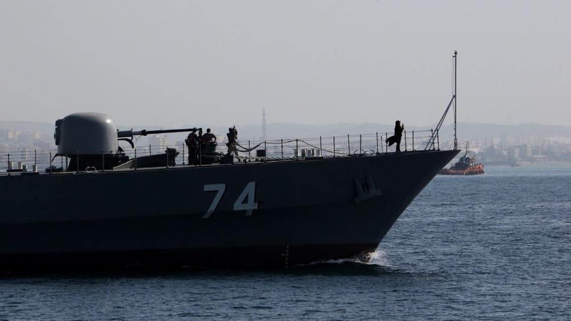 An Iranian Navy warship in the Strait of Hormuz. (File photo: AFP)