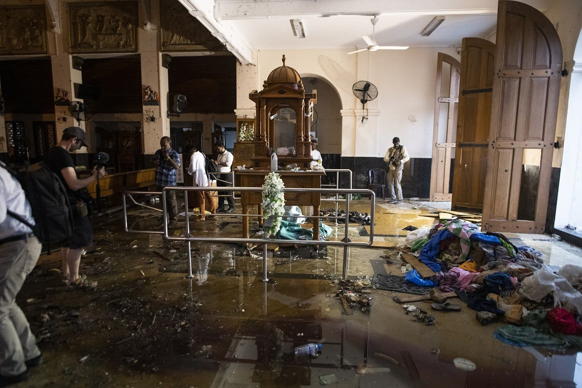 Sri Lanka Churches Attack on St. Anthony's Shrine in Colombo on April 26, 2019. (AFP)