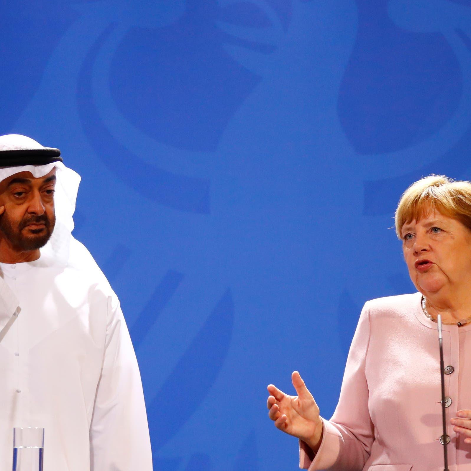 محمد بن زايد يبحث هاتفياً مع ميركل المستجدات في ليبيا