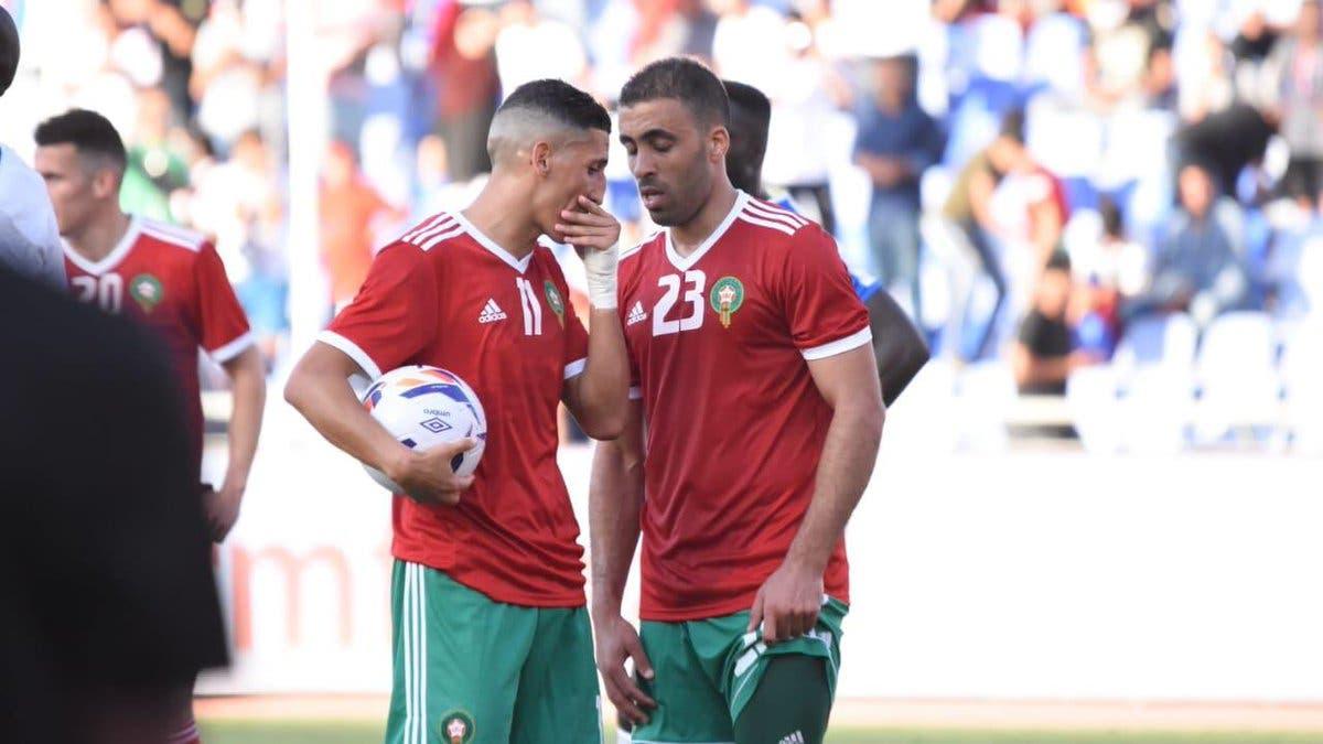 حمدالله في آخر مباراة له بقميص المنتخب