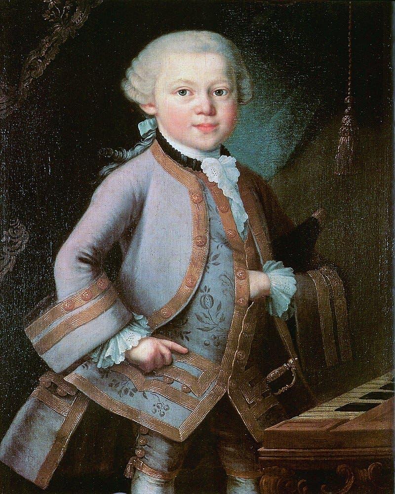 لوحة زيتية تجسد الطفل موزارت عام 1763
