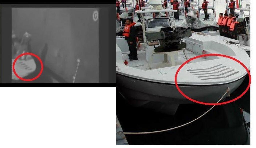 صور القارب متطابقة لقوارب الحرس الثوري