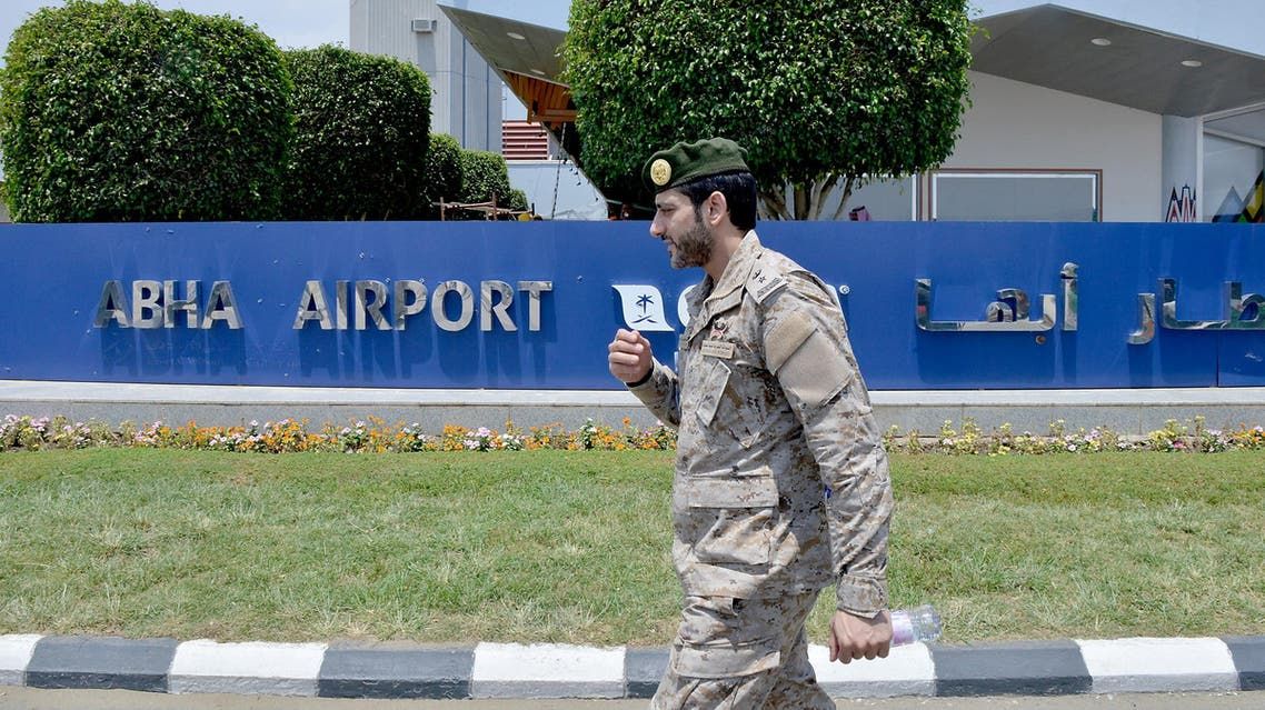 The drones targeted Abha airport in the southwest of Saudi Arabia. (AFP)