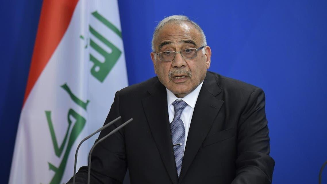 Iraqi Prime Minister Adel Abdel Mahdi. (AFP)