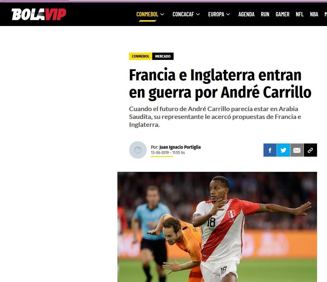 خبر الصحيفة البيروفية