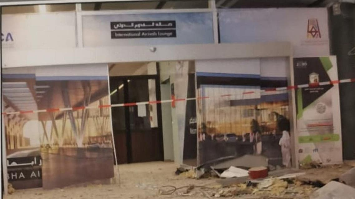 Damage of Saudi Arabia's Abha airport is seen after it was attacked by Yemen's Houthi group in Abha, Saudi Arabia June 12, 2019. Saudi Press Agency/Handout via REUTERS ATTENTION EDITORS - THIS PICTURE WAS PROVIDED BY A THIRD PARTY. NO RESALES. NO ARCHIVES. QUALITY FROM SOURCE.