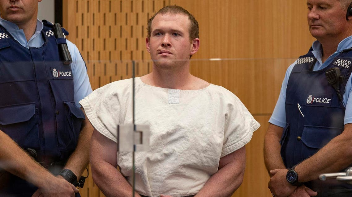 Brenton Tarrant stands in the dock at the Christchurch District Court on March 16, 2019. (AFP)