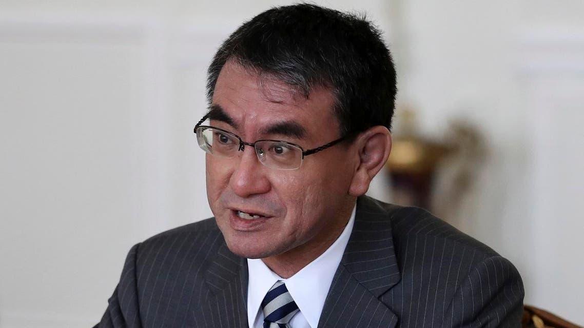 Japanese Foreign Minister Taro Kono. (AP)