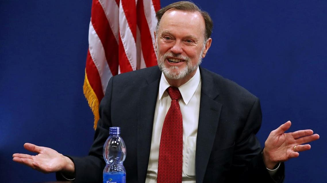 Tibor Nagy, the US Assistant Secretary of State for Africa, speaks during a news conference on Sudan, in the US Embassy in Addis Ababa, Ethiopia, on June 14, 2019. (Reuters)