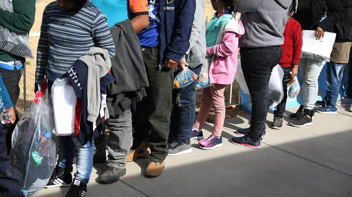 Migrants arrive at an Annunciation House facility to be cared for after being released by the U.S. Immigration and Customs Enforcement on January 14, 2019 in El Paso, Texas. (AFP)