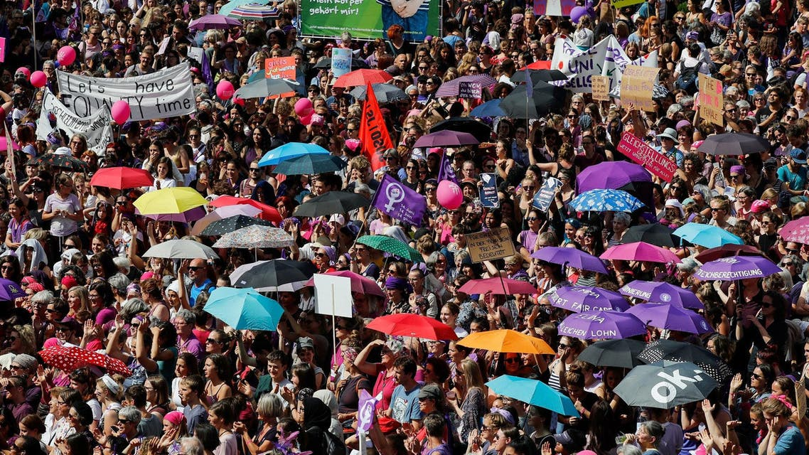 Switzerland women strike AFP