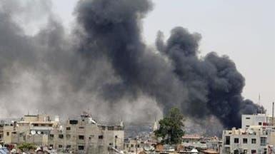 انفجار مستودع ذخيرة لجيش النظام غرب دمشق