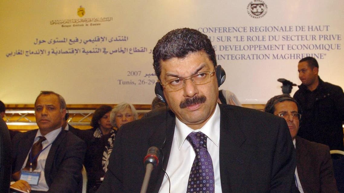 Algerian Financial Minister Karim Djoudi sits at the opening of the conference on the role of the private sector in economic development and regional integration in the maghreb 28 November 2007 in Tunis. AFP PHOTO FETHI BELAID FETHI BELAID / AFP
