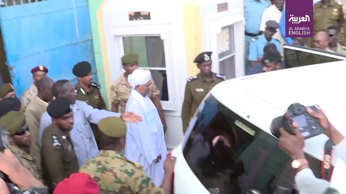 Sudan's ex-president Omar  al-Bashir appeared in public on Sunday for the first time since  he was overthrown, as he was taken out of prison to the office  of the anti-corruption prosecutor.