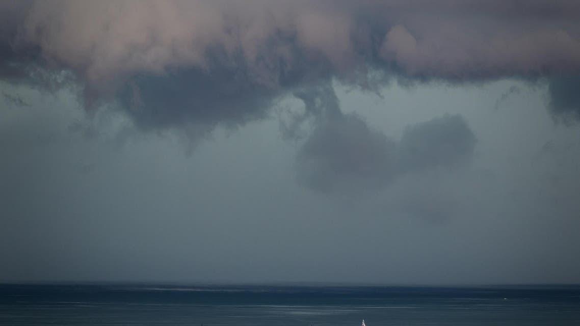 Lake Geneva Switzerland storm - AFP
