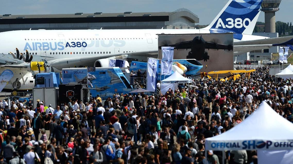 File photo of visitors walking on the tarmac during the International Paris Air Show at Le Bourget Airport, near Paris. (AFP)