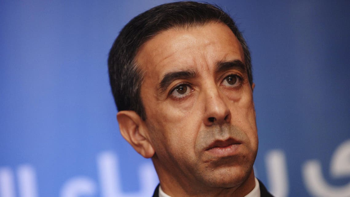 A file photo taken on October 26, 2015 shows Ali Haddad, head of the forum of business leaders (FCE), attending a signing agreement between the United Nations Institute for Training and Research (UNITAR) and the FCE in the capital Algiers. Haddad, a businessman close to President Abdelaziz Bouteflika, was arrested overnight on March 30-31, 2019, at a border crossing with Tunisia, according to an Algerian security source.