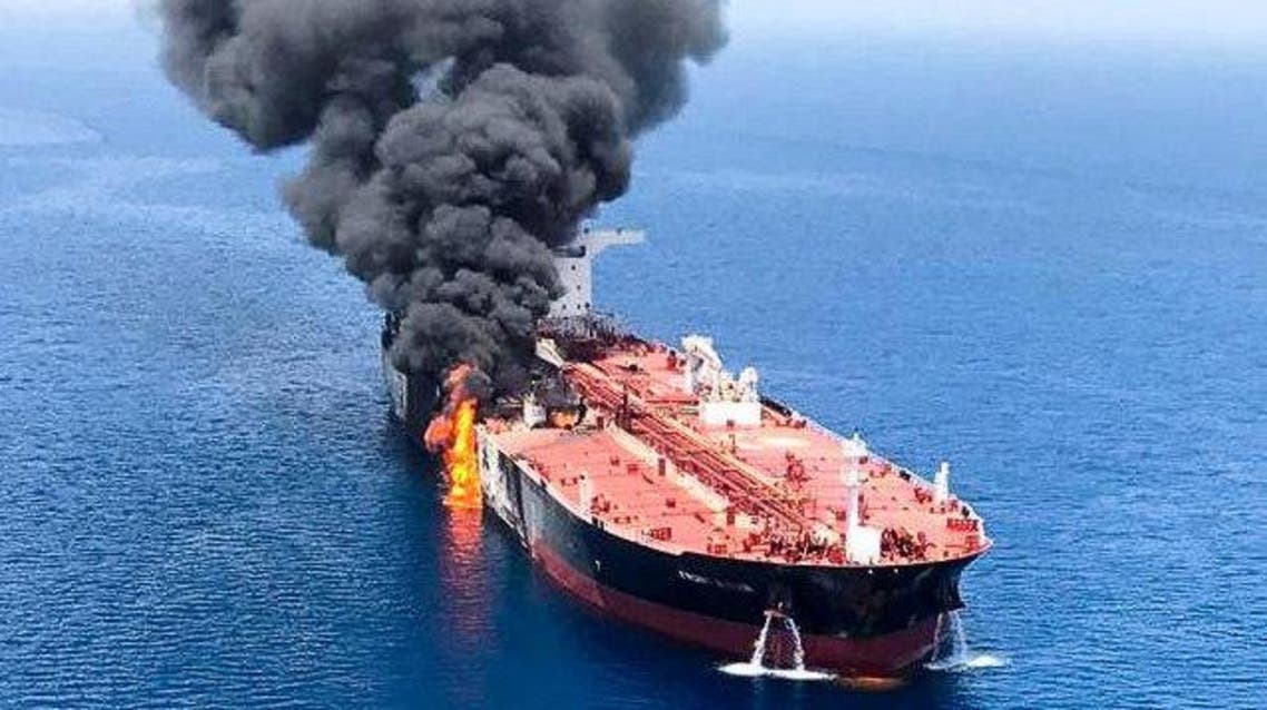 Oil tankers attacked in Gulf of Oman 1