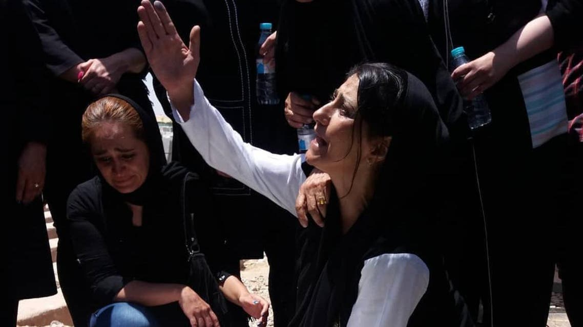 Alireza Shir Mohammad Ali's mother. Ali was killed in a Tehran jail while serving an eight-year sentence. (Twitter)