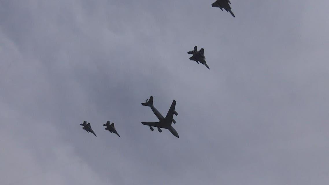 THUMBNAIL_ مقاتلات سعودية وأميركية في تحليق مشترك بالخليج