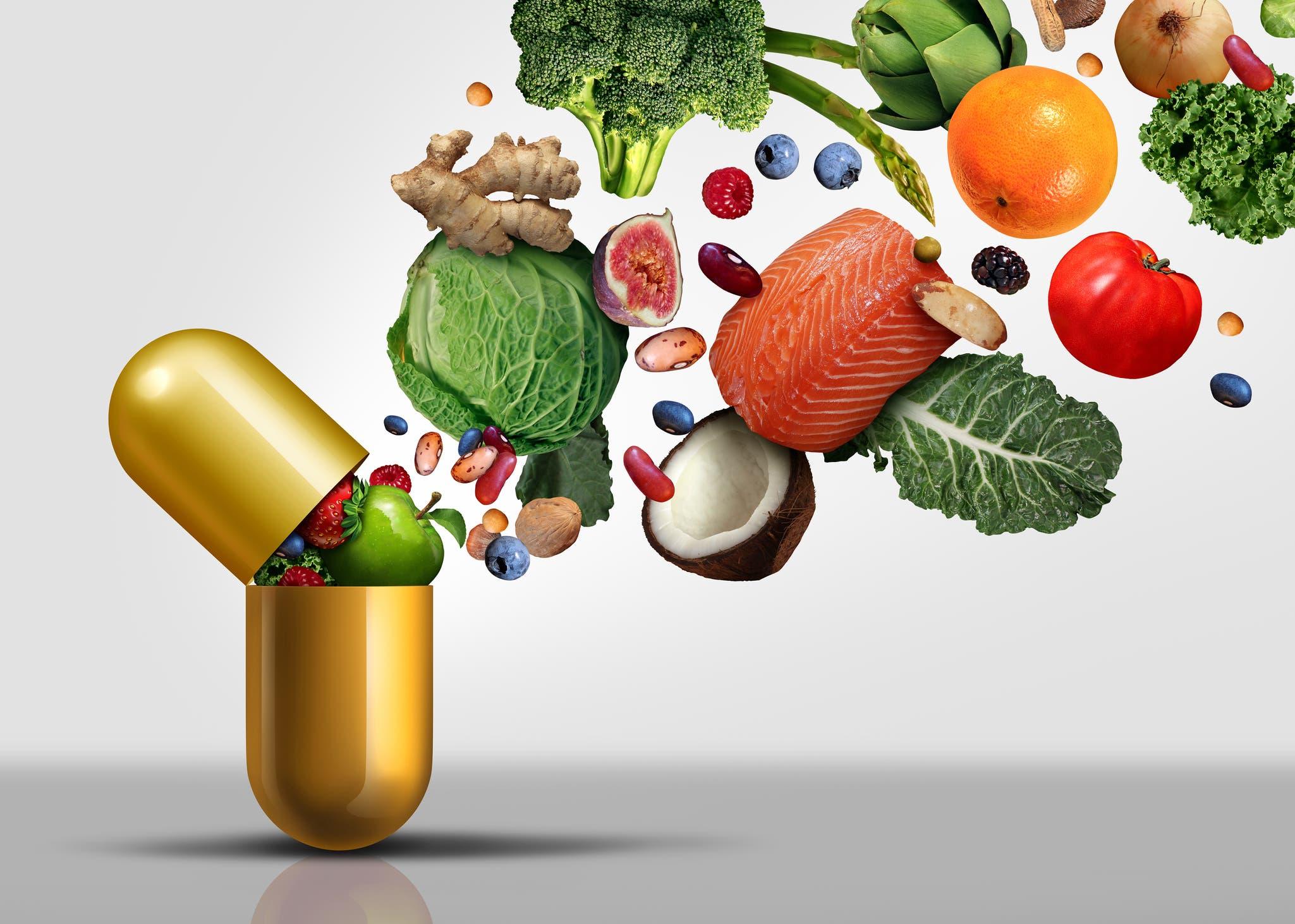 الخضار والفواكه والأسماك هي أهم مصادر الفيتامين