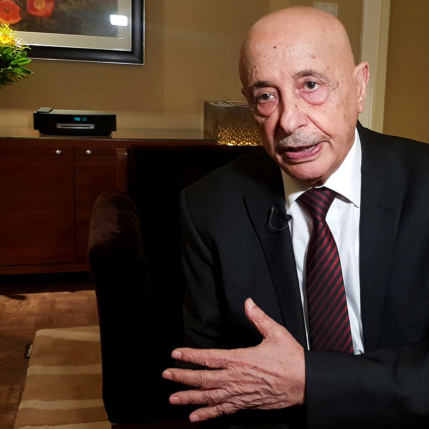 عقيلة صالح: اتفاق أردوغان والسراج احتلال تركي لأراضي ليبيا