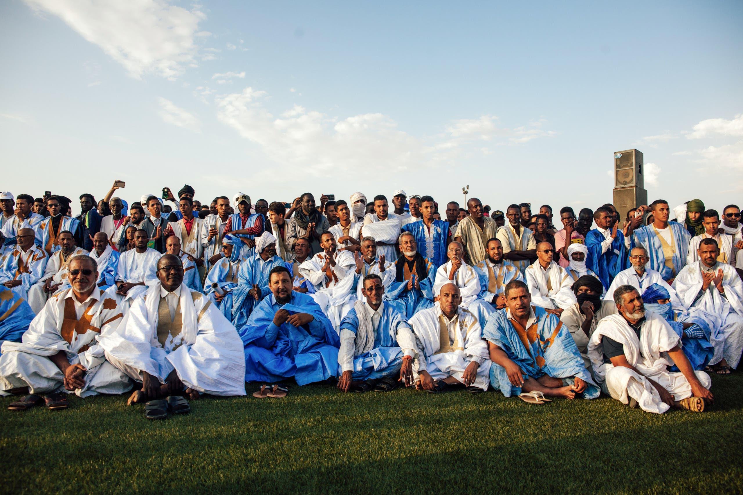 جانب من الحضور في حفل انتخابي بموريتانيا