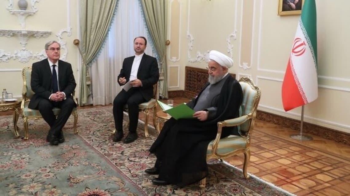 روحاني والسفير الفرنسي
