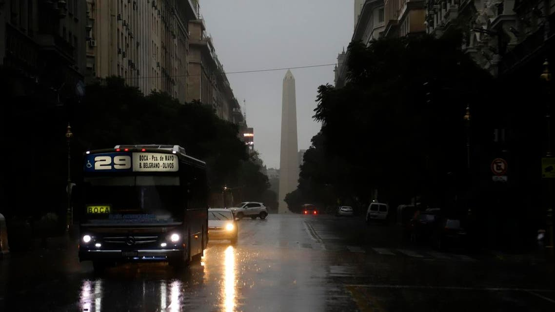 Downtown Buenos Aires on June 16, 2019 during a power cut IN Argentina. (AFP).