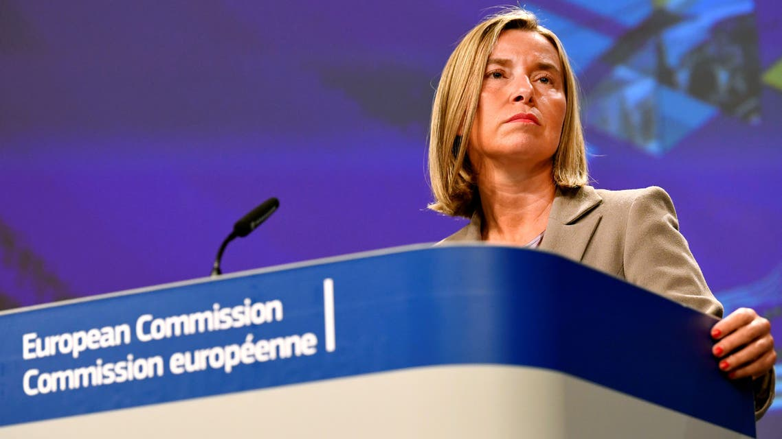 European Union Foreign Policy Chief Federica Mogherini presents the Commission's Enlargement Package for 2019, which sets out the way forward for candidate countries and takes stock of the situation in each candidate country and potential candidate, in Brussels, Belgium May 29, 2019. REUTERS/Piroschka van de Wouw
