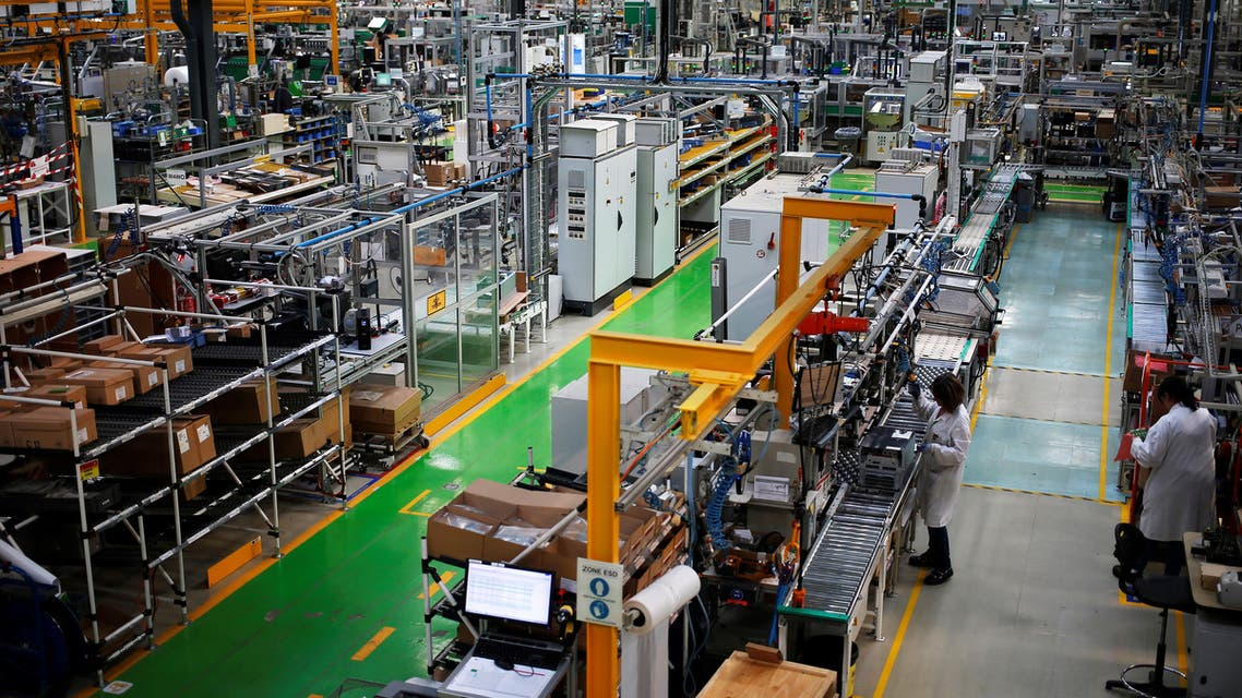 Production plant of French electrical equipment - AFP