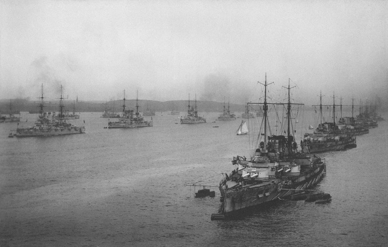 عدد من القطع الحربية البحرية الألمانية مطلع القرن العشرين
