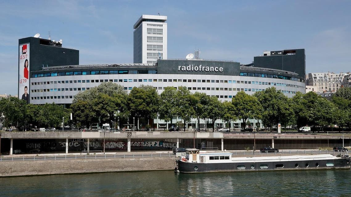 This file photo taken on June 1, 2019 shows the Maison de la Radio, the headquarters of the radio broadcasting group Radio France. (AFP)