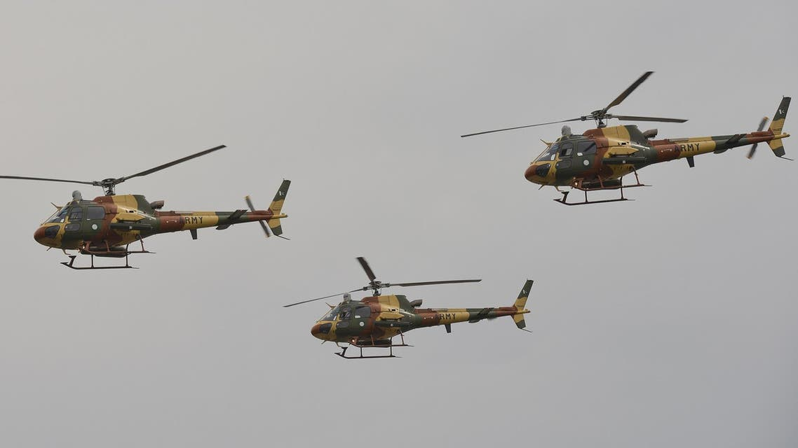 Pakistani army helicopters - AFP
