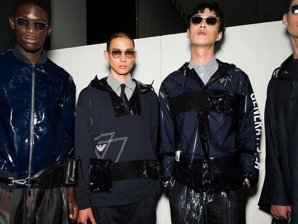 خامات جديدة تدخل على الأزياء الرجالية في ميلانو