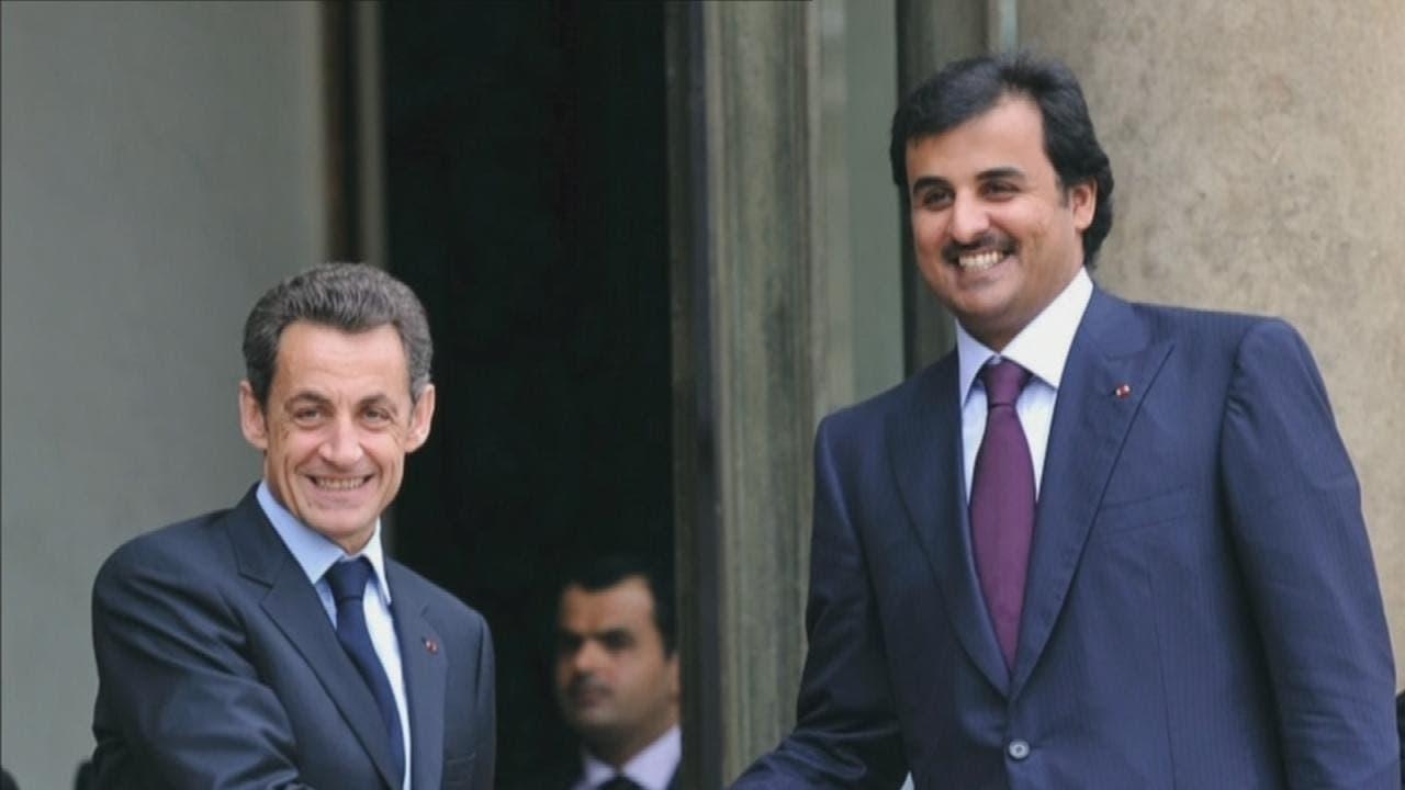 أمير قطر مع رئيس فرنسا السابق