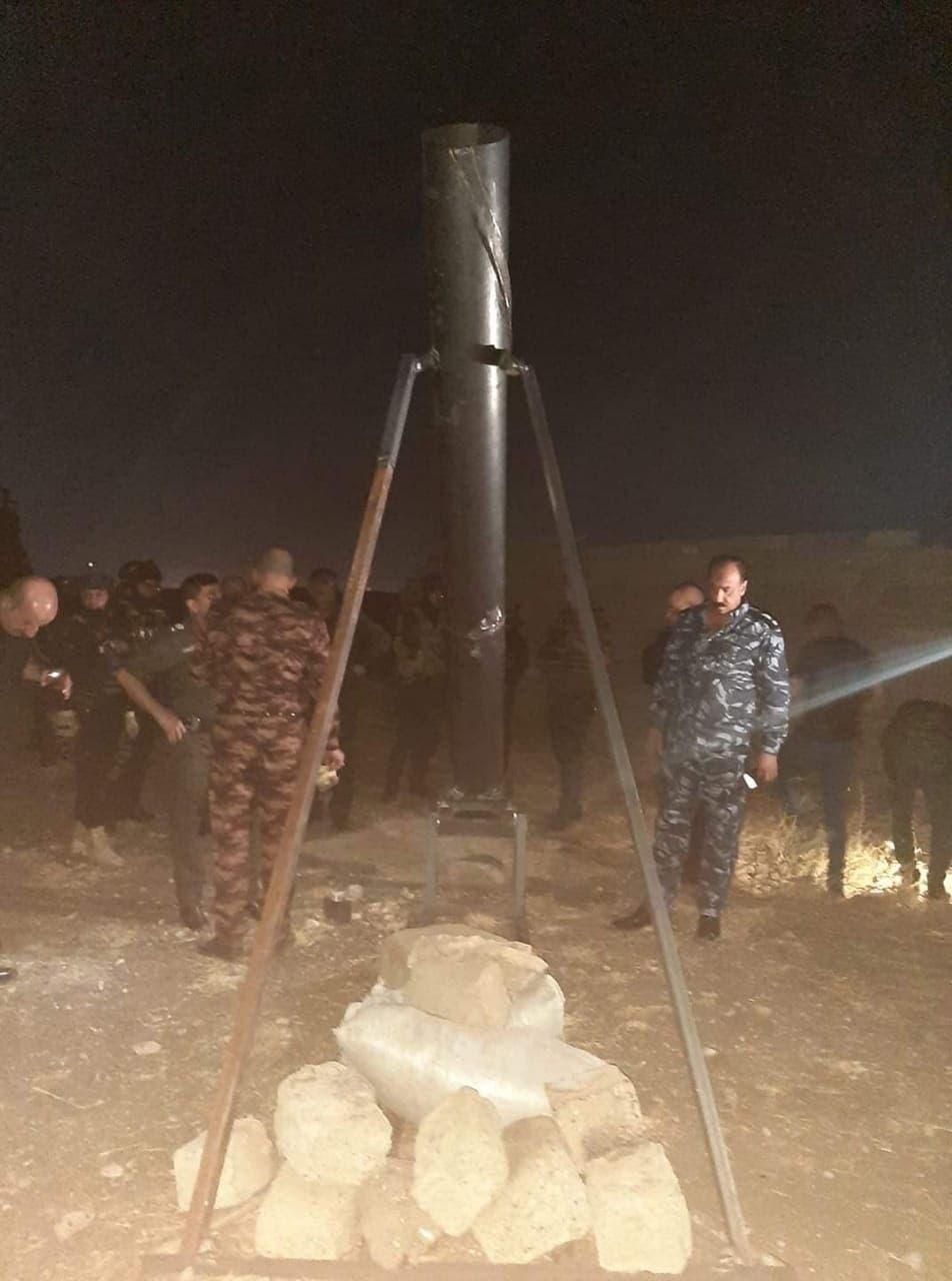 منصة اطلاق صواريخ في الموصل