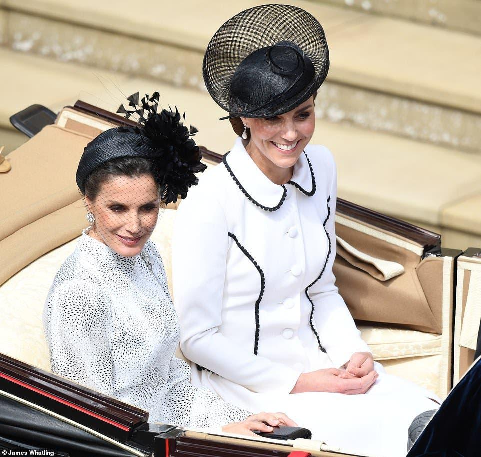 كايت برفقة الملكة ليتيزيا