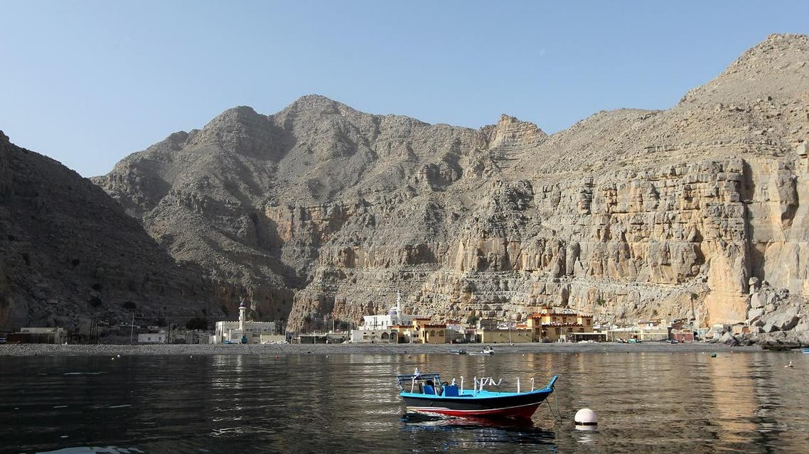 A general view shows the tiny village of Kumzar on the northernmost tip of Oman's Musandam peninsula. (AFP)