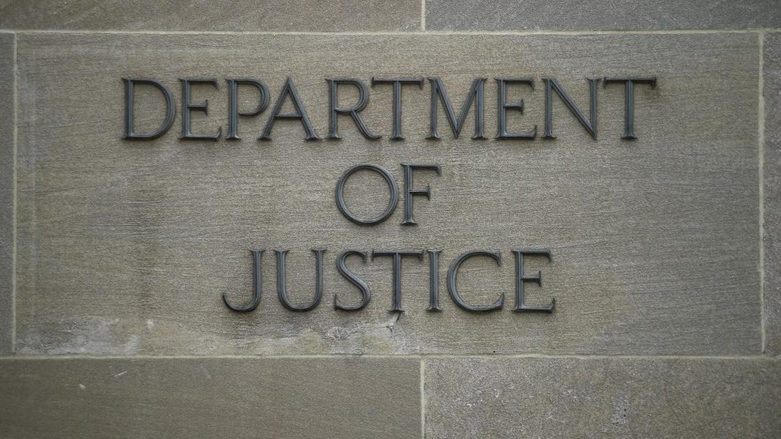 US Justice Department. (AFP)