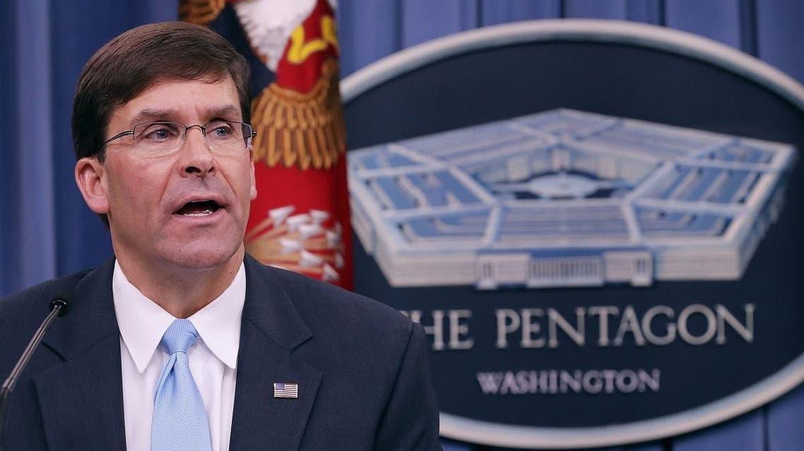 New Pentagon chief Mark Esper. (AFP)