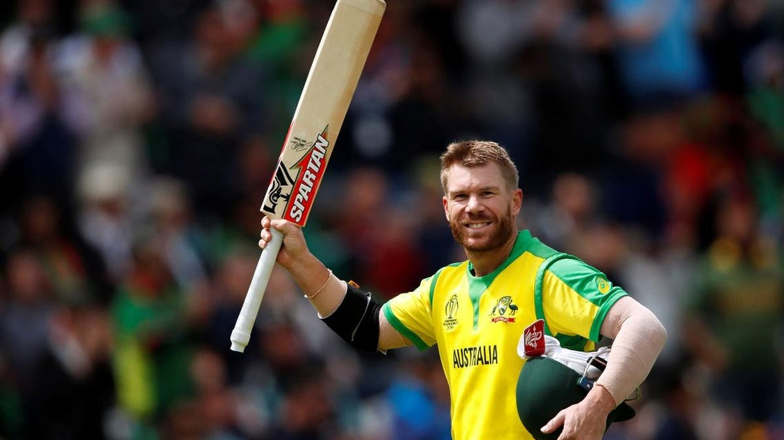 Australia's David Warner walks off after losing his wicket in the ICC Cricket World Cup match against Bangladesh at Trent Bridge, Nottingham, Britain, on June 20, 2019. (Reuters)