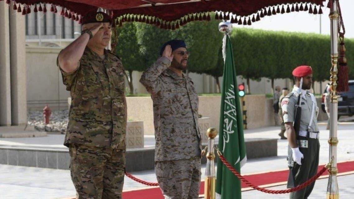 Labnon army chief visit KSA